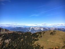 Panorama verso i monti austriaci; a destra cima Bella