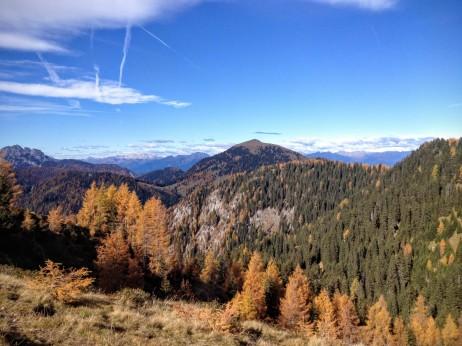 Panorama verso monte Poludnig