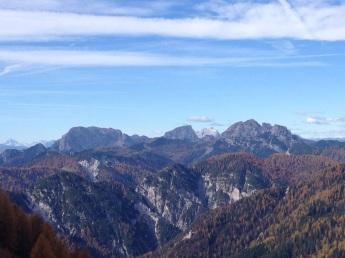 Panorama verso monte Cavallo di Pontebba e Creta di Aip