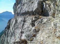 Cengia artificiale sul sentiero battaglione Gemona