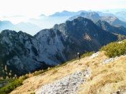 La dorsale Gosadon-Cuel dai Puez poco prima della cima