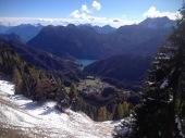 Panorama da monte Morgenleit verso il lago
