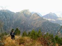 Panorama verso il monte Frugna