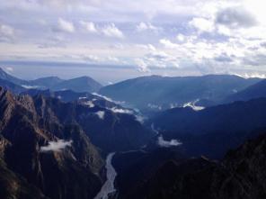 Panorama verso il lago di Barcis