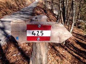 Indicazioni per una scorciatoia del sentiero Cai 425.