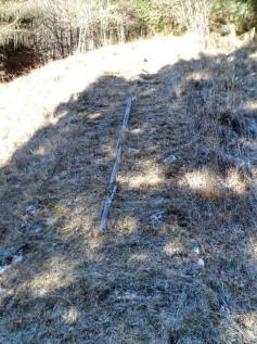 Lo scivolo usato dalla cava