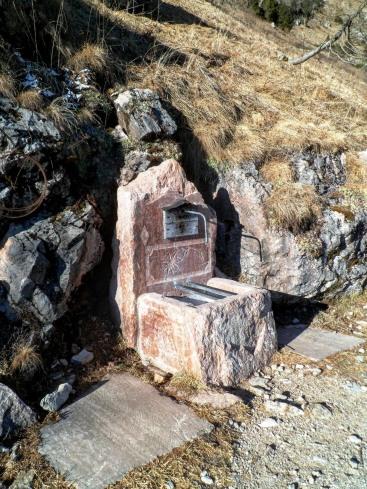 Fontana nei pressi del rifugio