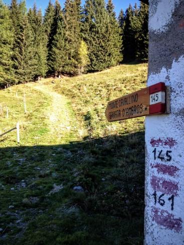 Indicazioni per il monte Cavallino