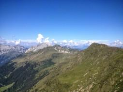 Panorama verso monte Polinik