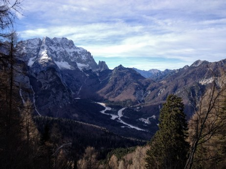 La Val Saisera vista dal sentiero 617.