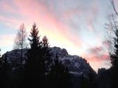Lo jof di montasio e i colori del tramonto.