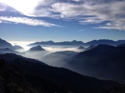 Panorama verso sud dalle pendici del Monte Rivo.