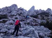 All'inizio del sentiero alpinistico.