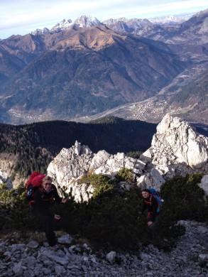 Sulla crest settentrionale del Monte Cucco.