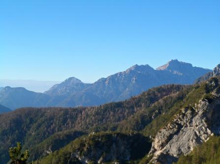 Panorama verso Pisimoni e Zuc dal Bor
