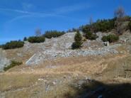 Villaggio di guerra a nord della quota 1825 del monte Sechieiz