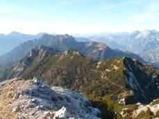 Dalla cima verso monte Sechieiz