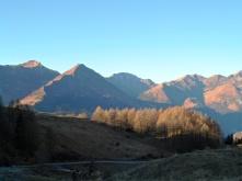 Panorama verso monte Terzo