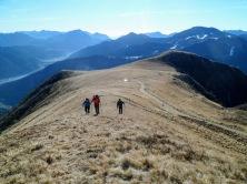 Sulla cresta del monte Valsecca