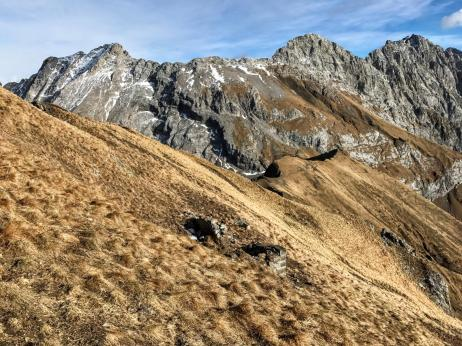 Panorama sui monti di Volaja.