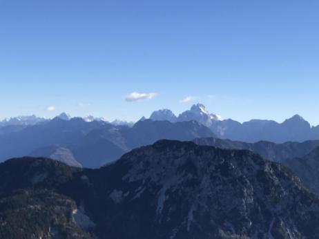 Panorama verso le Alpi Giulie.