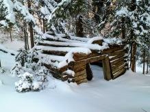 Vecchia baita in legno