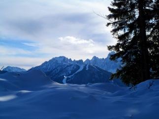 Panorama verso il monte Lussari