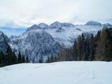Panorama verso il monte Robon e Cima Confine