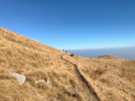 Ultimo tratto di sentiero prima della casera Rupeit