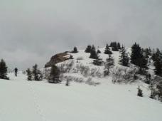 Ultimi metri prima della cima del monte Cordin