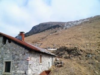 Casera Monte Rest e la cima del monte Rest
