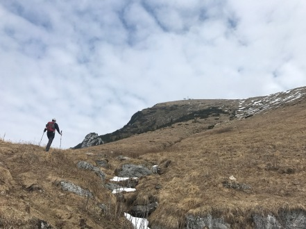 Si sale verso la cima del monte Rest