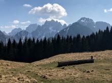 Panorama verso le Alpi Giulie