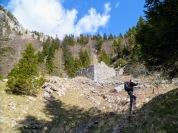 Resti di edifici militari presso il passo Cavallo