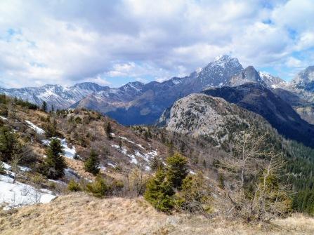 Panorama verso il monte Coglians