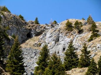 Caverne sul lato sud del Rossboden
