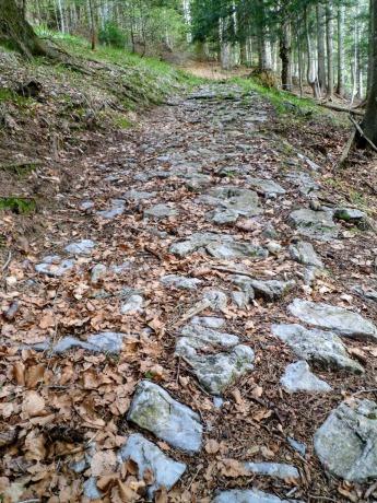 Il sentiero lastricato