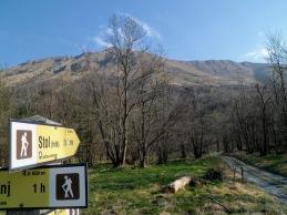 Monte Stol dal punto di partenza