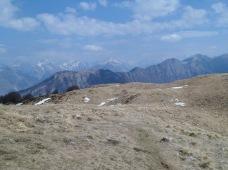 Panorama verso la dorsale del Krasji Vrh (cima Crassi)