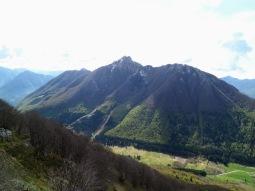 Panorama verso il monte Piombada