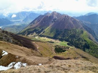 Panorama verso sella Chianzutan e monte Piombada