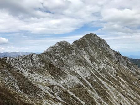 Il Monte Caulana visto da Forcella Valgrande.