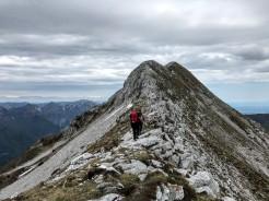 Tratto iniziale della cresta del Monte Caulana.