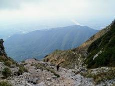 Panorama dalla forcella della Capra verso la pianura