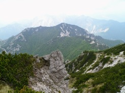 Panorama verso il monte Vualt