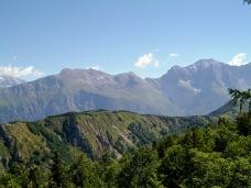 Panroama verso monte Sart e Canin