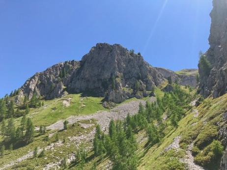 Le pendici ovest del monte Piova
