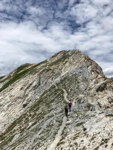 Ultimo tratto di cresta prima della cima.