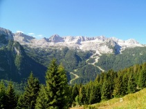 Panorama verso monte Canin
