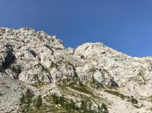 La parete est della Creta di Pricot.